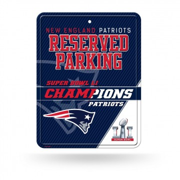 New England Patriots Super Bowl 51 Champs Metal Parking Sign