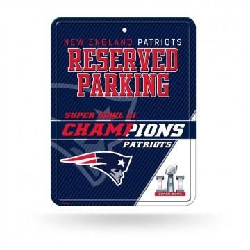 New England Patriots Super Bowl 51 Champs Metal Parking Sign