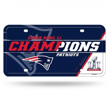 New England Patriots Super Bowl 51 Champs Metal License Plate