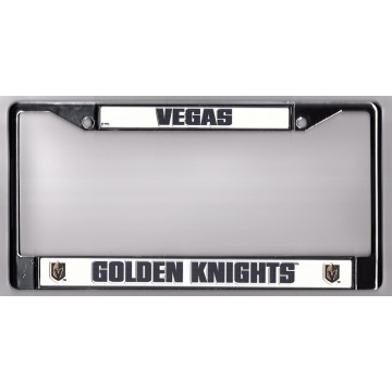 Las Vegas Golden Knights Chrome License Plate Frame