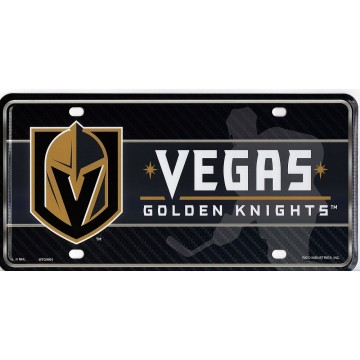 Las Vegas Golden Knights Metal License Plate
