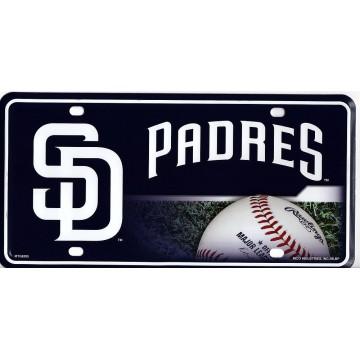 San Diego Padres Metal License Plate