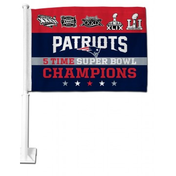 New England Patriots Super Bowl 51 Champs Car Flag