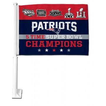 New England Patriots Super Bowl 51 Champs Car Flag