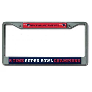 New England Patriots Super Bowl 51 Chrome License Plate Frame
