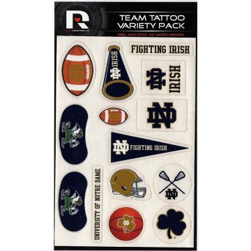 Notre Dame Fighting Irish Variety Pack Tattoo Set