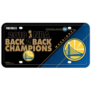 Golden State Warriors 2018 Champs Metal License Plate