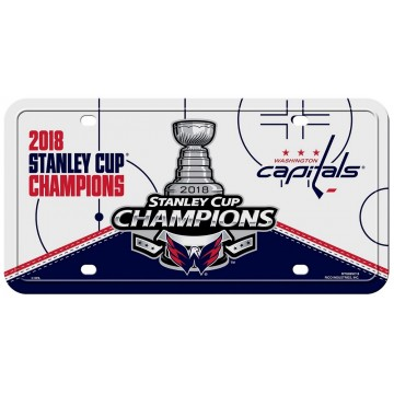 Washington Capitals 2018 Champs Metal License Plate