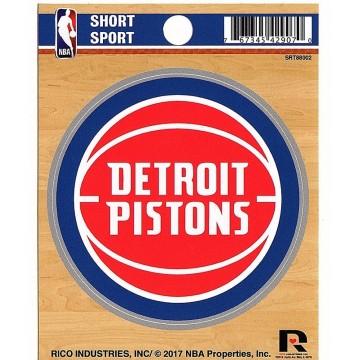 Detroit Pistons Short Sport Decal