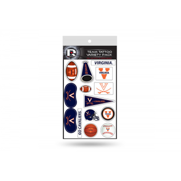 Virginia Cavaliers Variety Pack Tattoo Set