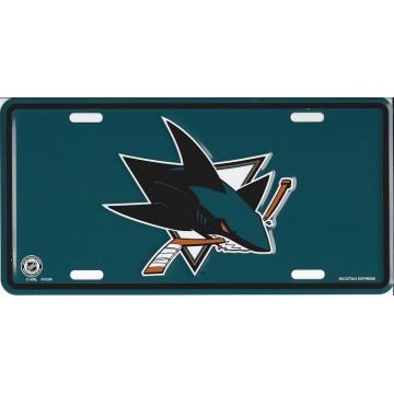 San Jose Sharks Metal License Plate