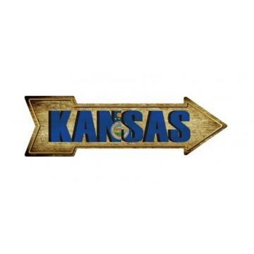 Kansas Metal Arrow Street Sign