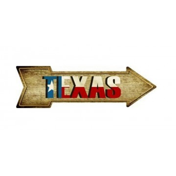 Texas Metal Arrow Street Sign