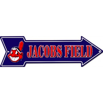 Cleveland Indians Stadium Arrow Street Sign