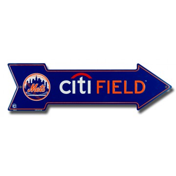 New York Mets City Field Metal Arrow Street Sign