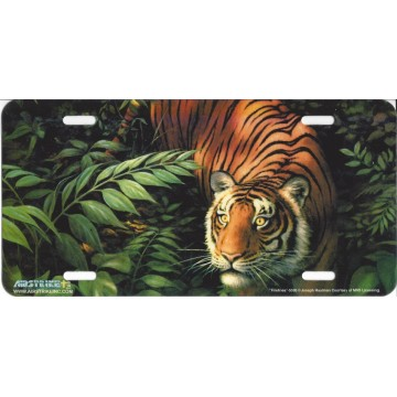 """Firelines"" Tiger License Plate"