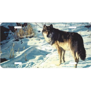 """""""Lone Wolf"""" Wolf License Plate"""