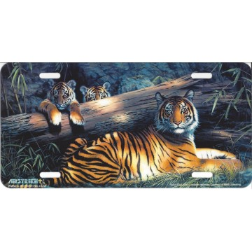"""""""Quiet Fire"""" Tiger License Plate"""