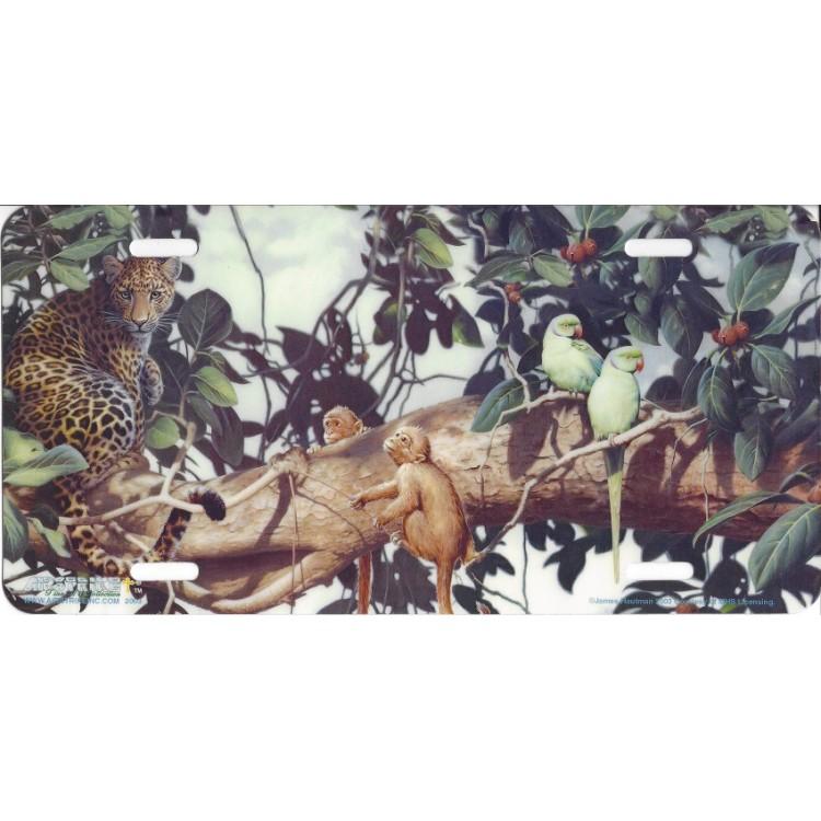 """""""Jungle Scene"""" License Plate"""