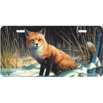 """Winter Fox"" License Plate"