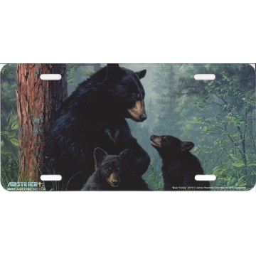 Bear Family License Plate