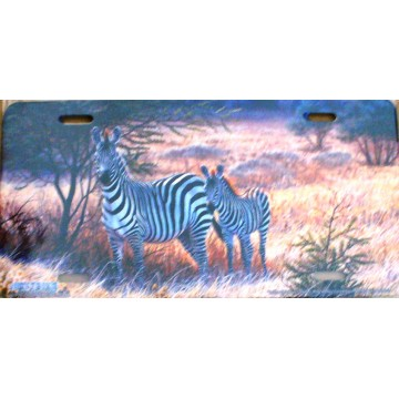 "Zebra  ""In The Shadows""  License Plate"