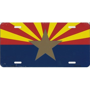 Arizona Big Star Metal License Plate