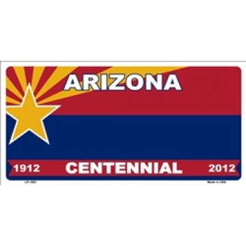 Arizona Centennial 1912-2012 Metal License Plate