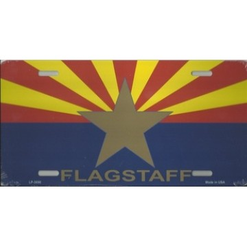 Arizona Big Star Flagstaff Metal License Plate