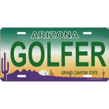 Arizona Golfer Photo License Plate