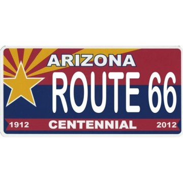 Arizona Centennial State Route 66 Photo License Plate