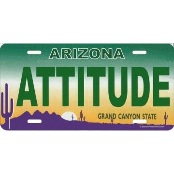 Arizona Attitude Photo License Plate