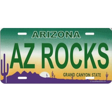 Arizona AZ Rocks Photo License Plate