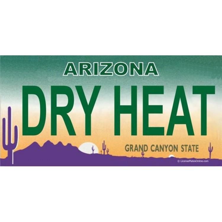 Arizona DRY HEAT Photo License Plate