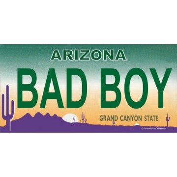 Arizona BAD BOY Photo License Plate