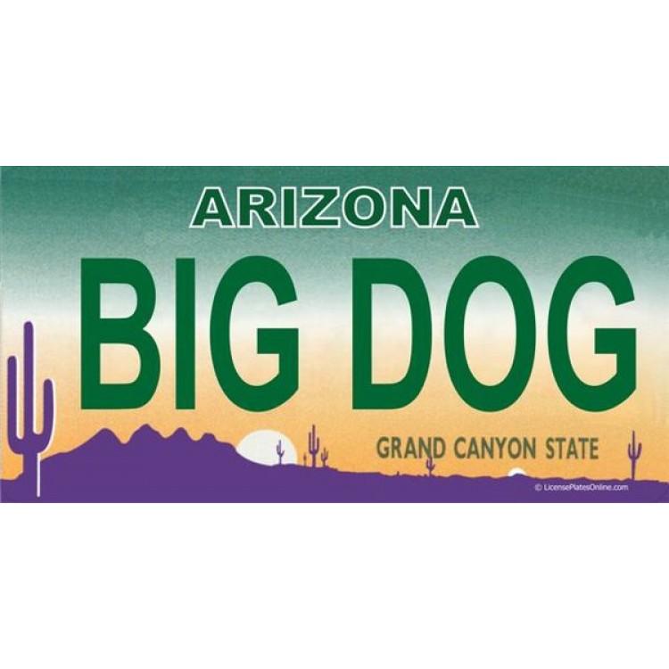 Arizona BIG DOG Photo License Plate