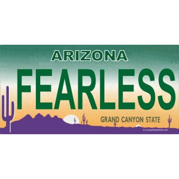 Arizona FEARLESS Photo License Plate