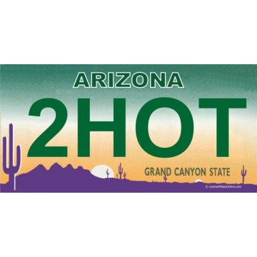 Arizona 2HOT Photo License Plate