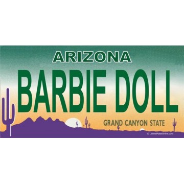 Arizona BARBIE DOLL Photo License Plate