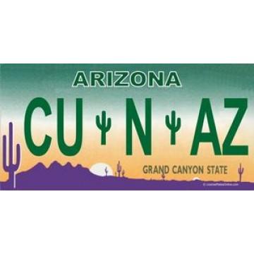 Arizona CU N AZ Photo License Plate