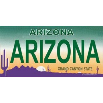 Arizona Arizona Photo License Plate