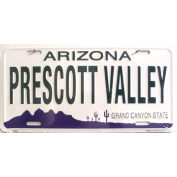 Arizona Prescott Valley Metal License Plate