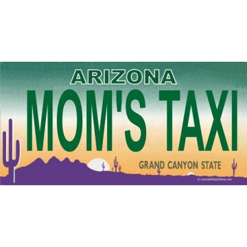 Arizona MOM'S TAXI Photo License Plate