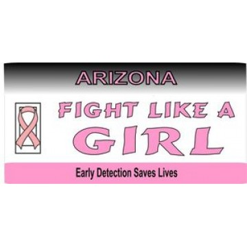 Arizona Pink Ribbon Photo License Plate