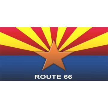 Arizona State Flag Route 66 Photo License Plate