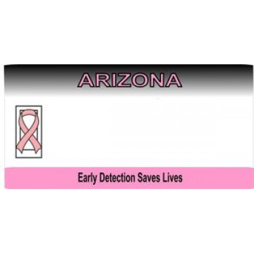 Arizona Breast Cancer Awareness State Look A Like Photo License Plate
