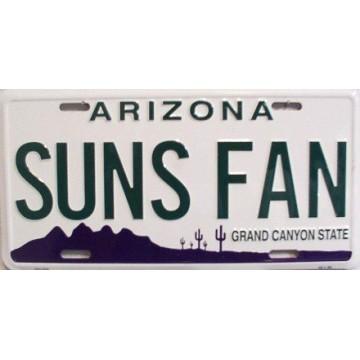 Arizona Suns Fan Metal License Plate