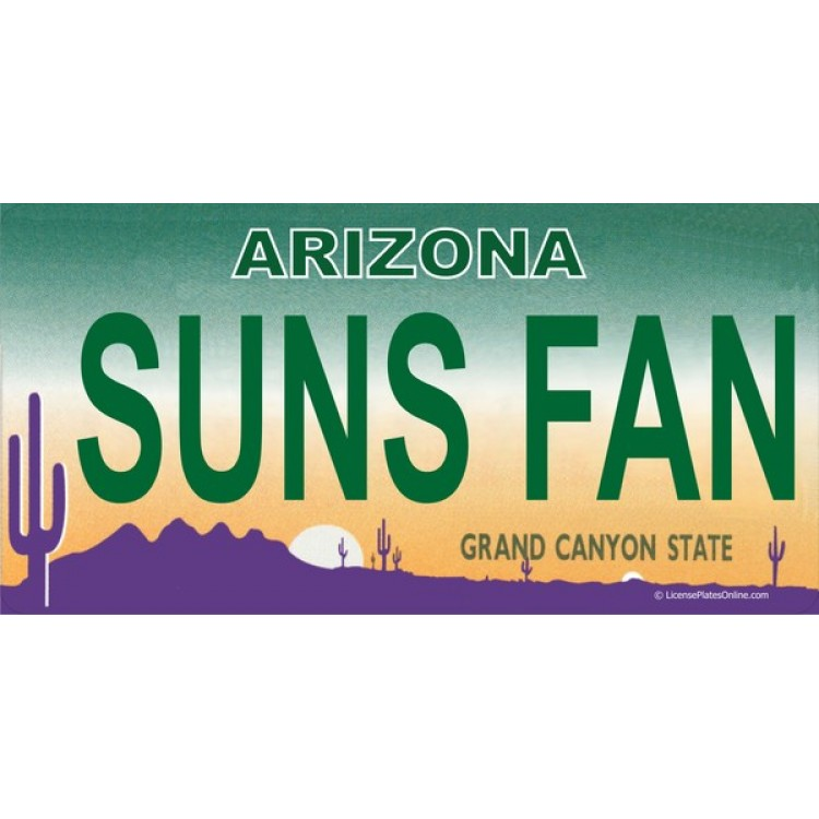 Arizona SUNS FAN Photo License Plate