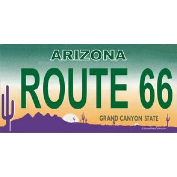 AZ Route 66 Photo License Plate