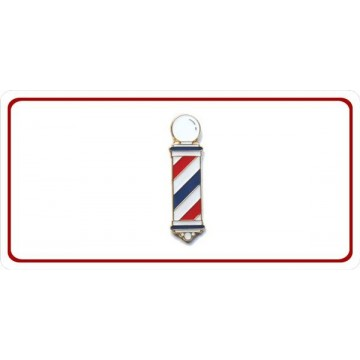Barber Pole Photo License Plate